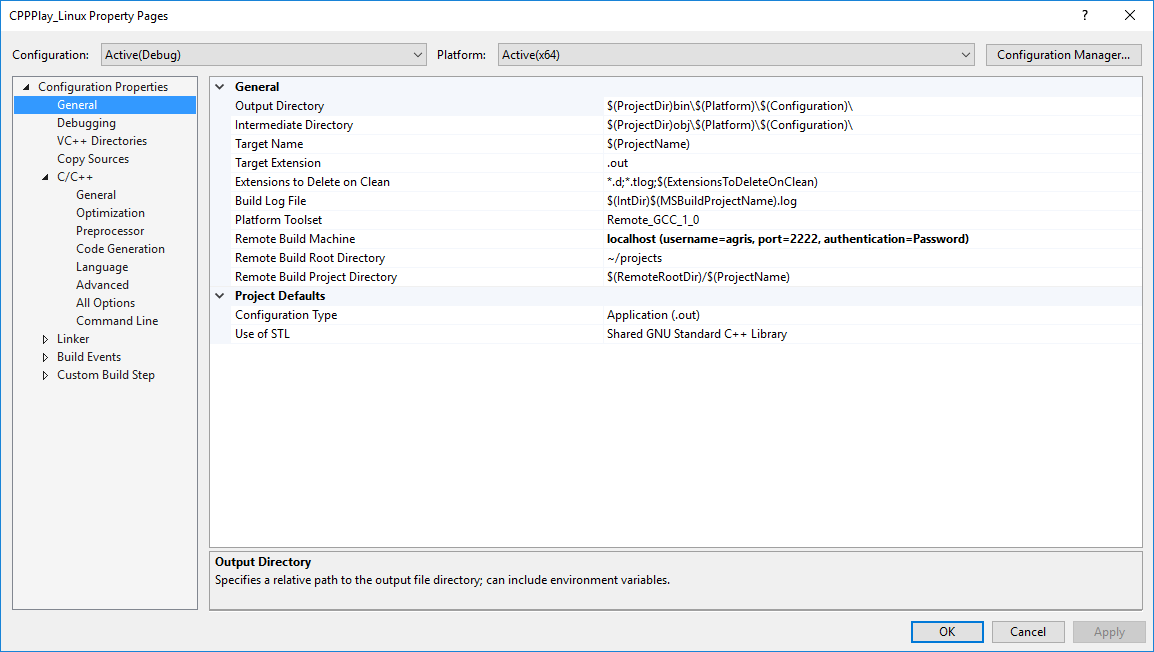 Visual Studio Project Config