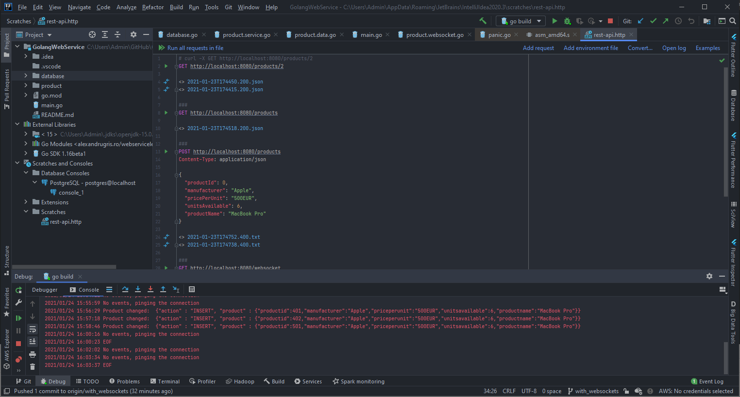 Sending Requests From IntelliJ Ultimate